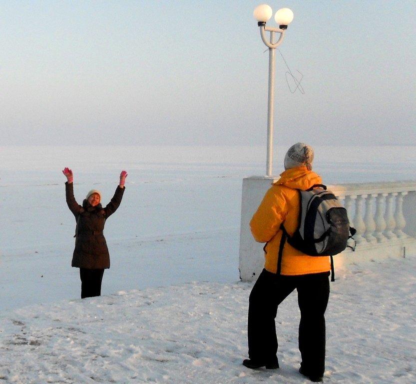 На зимних берегах, у моря Азовского, в походе... 001. 003. 009