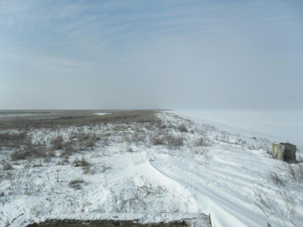В снегах, путешествие, Ачуевская коса, Азовское море, февраль... 006. 009