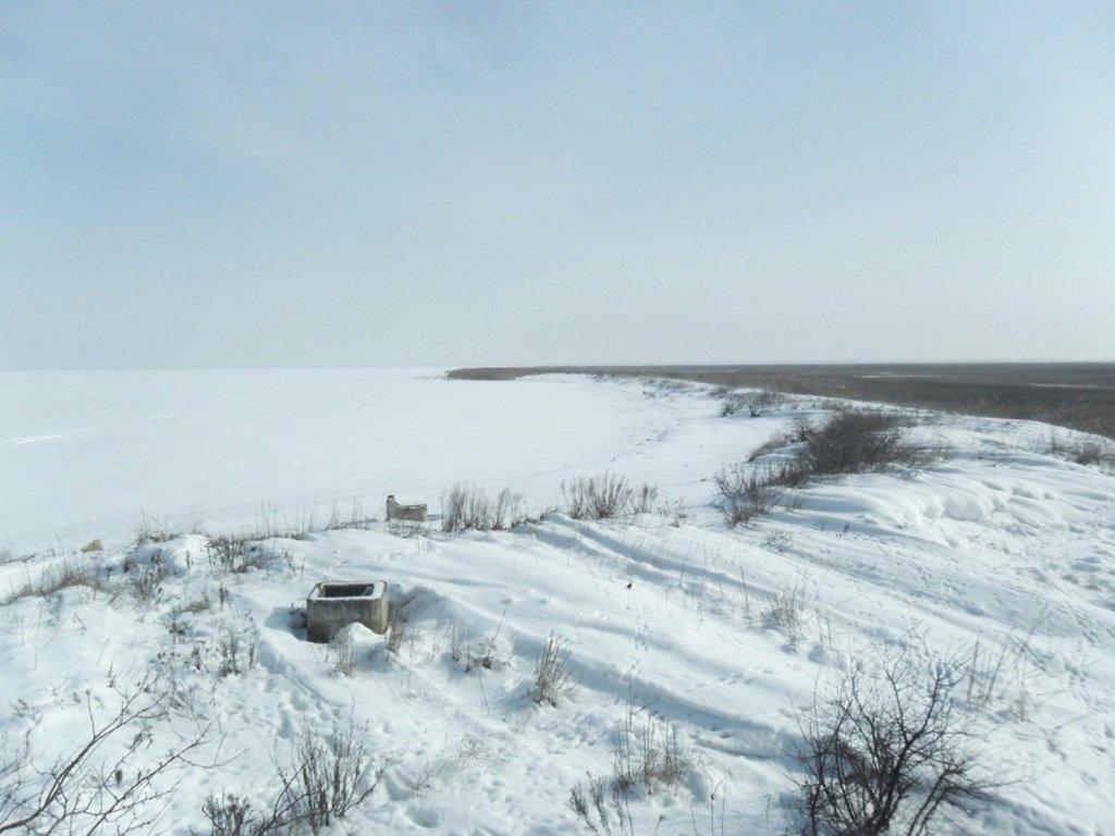 В снегах, путешествие, Ачуевская коса, Азовское море, февраль... 006. 008