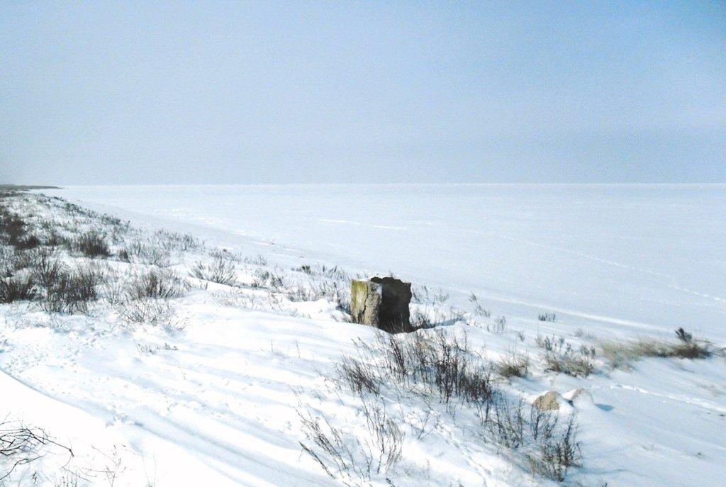 В снегах, путешествие, Ачуевская коса, Азовское море, февраль... 006. 012