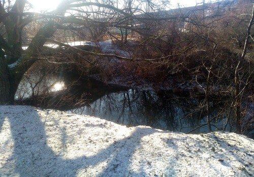 Зимняя река.