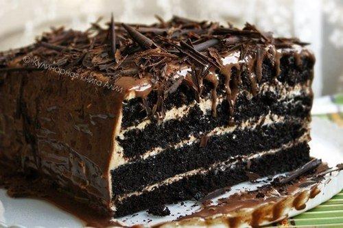 Влажный шоколадный тортик.