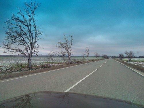 По дороге в Симферополь. Март.