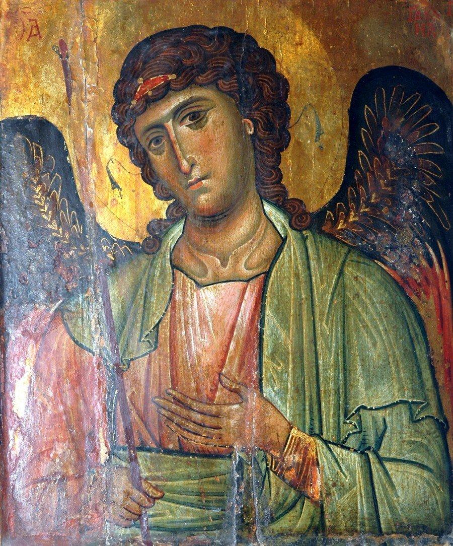 Архангел Гавриил. Византийская икона начала XIII века. Монастырь Святой Екатерины на Синае.