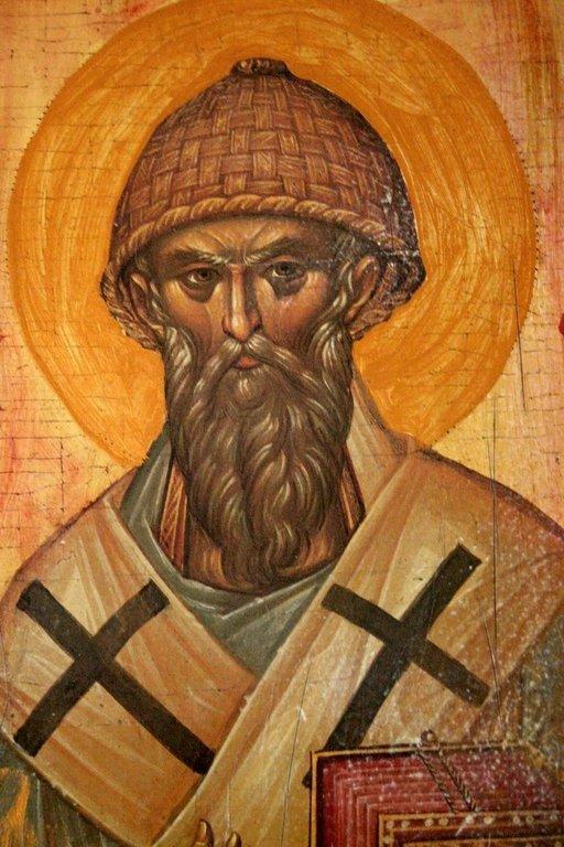 Святитель Спиридон, Епископ Тримифунтский, Чудотворец. Старинная греческая икона.