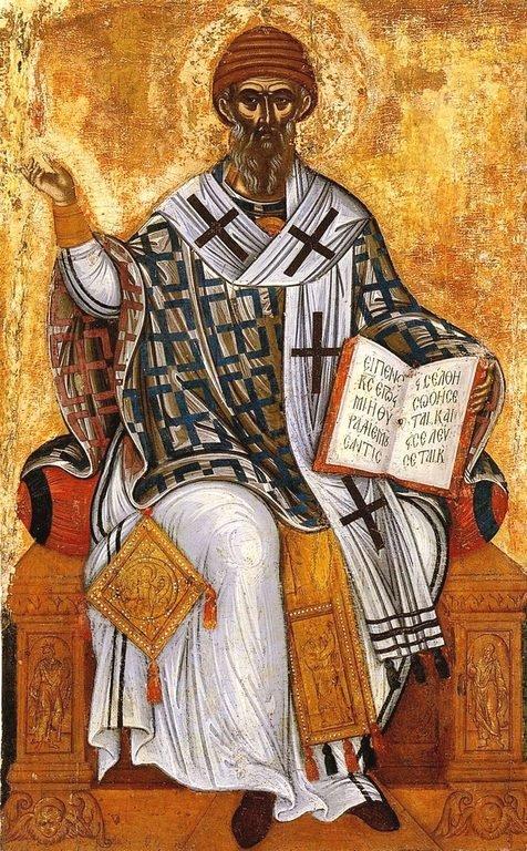 Святитель Спиридон, Епископ Тримифунтский, Чудотворец. Икона. Греция, вторая половина XVI века. Остров Закинф.