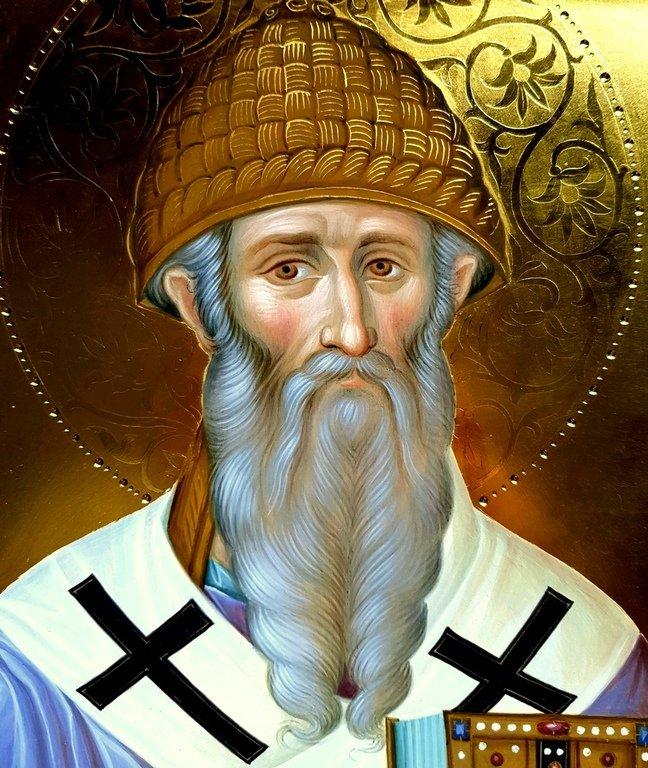 Святитель Спиридон, Епископ Тримифунтский, Чудотворец. Иконописец Александр Деркачёв.
