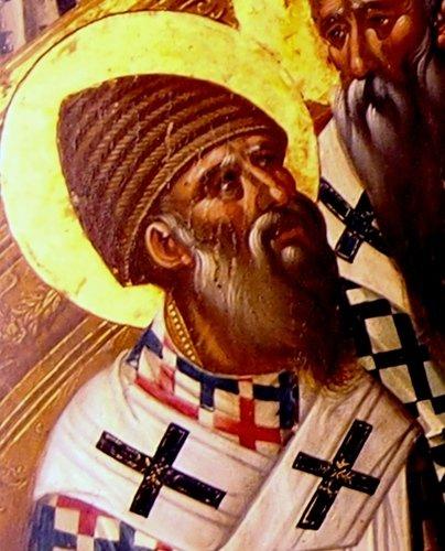 Первый Вселенский Собор. Икона. Крит, 1591 год. Иконописец Михаил Дамаскин.