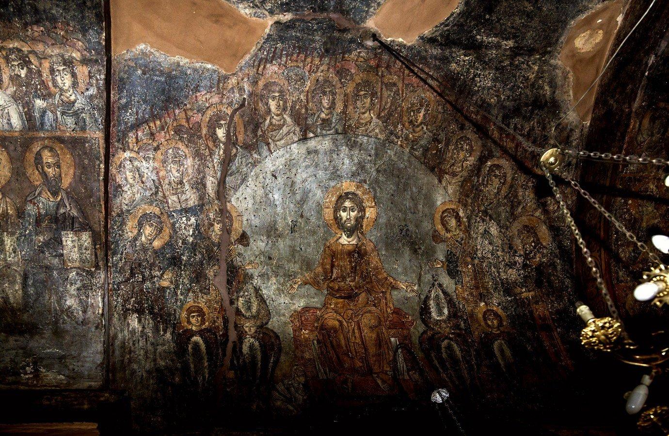 Страшный Суд. Фреска церкви Панагии Халкеон в Салониках, Греция. Около 1028 года.