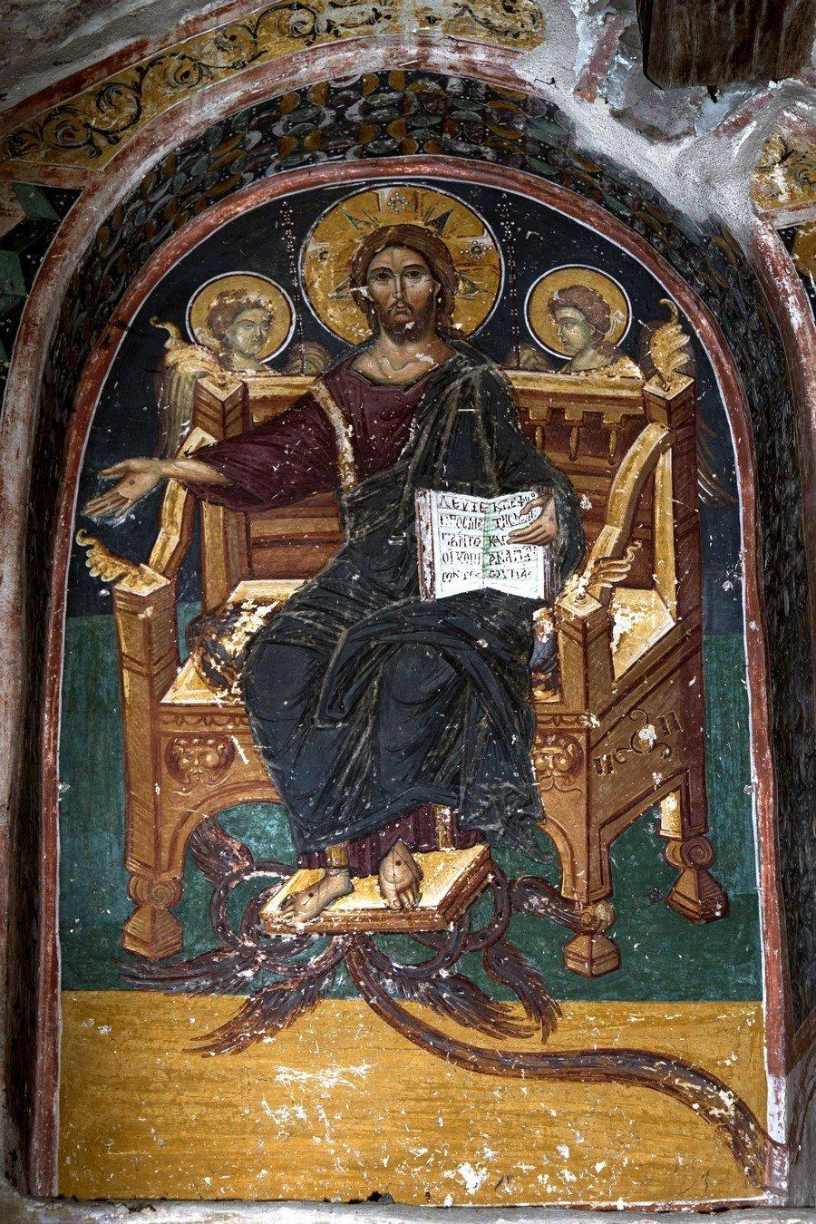 Страшный Суд. Фреска монастыря Великий Метеор, Метеоры, Греция. Фрагмент.