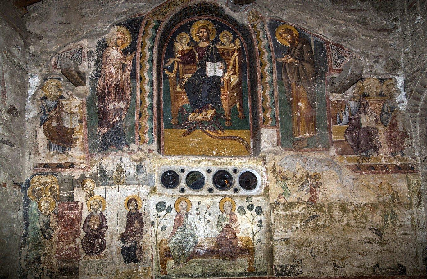 Страшный Суд. Фреска монастыря Великий Метеор, Метеоры, Греция.