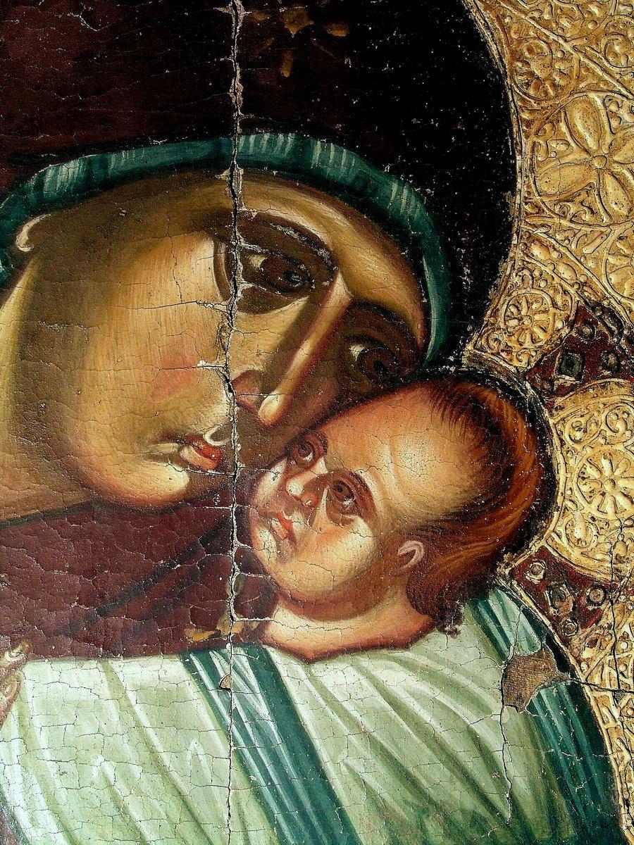 Богоматерь Елеуса. Кипрская икона. Фрагмент.