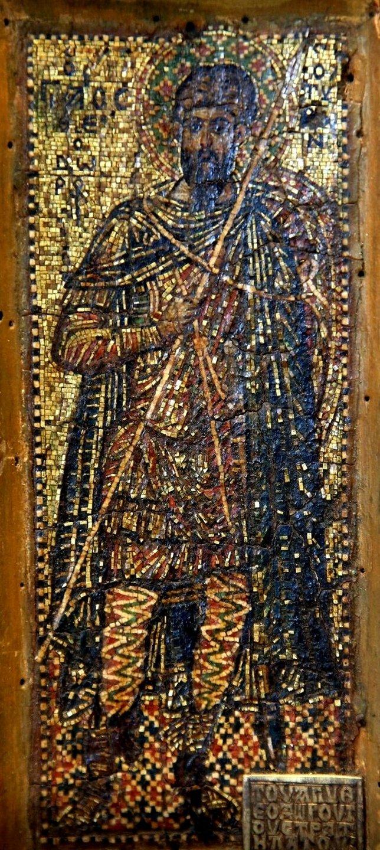Святой Великомученик Феодор Тирон. Византийская мозаическая икона.