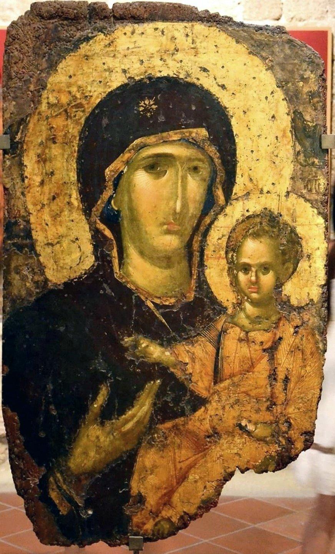 Богоматерь Одигитрия. Византийская икона. Родос.