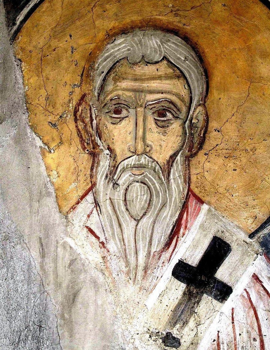 Лик Святителя. Византийская фреска. Кипр.