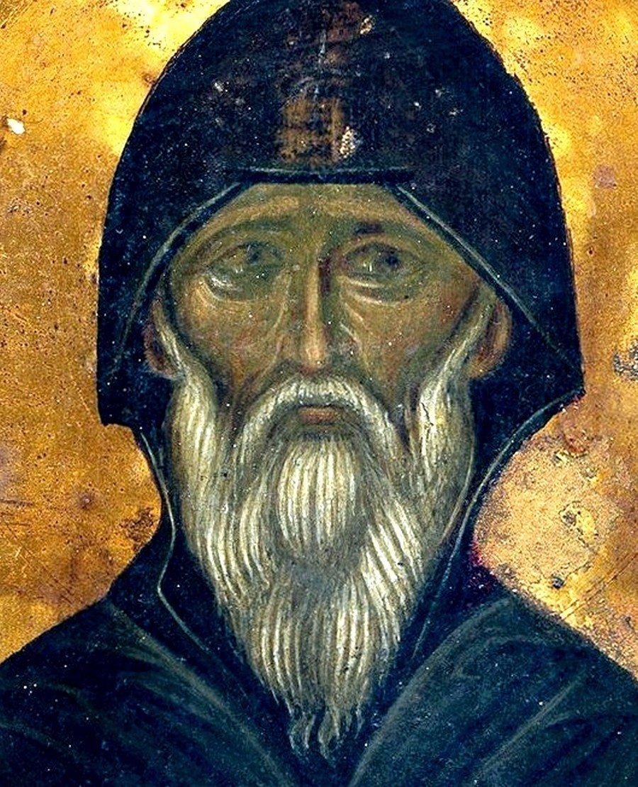 Святой Преподобный Иоанн Лествичник. Икона XV века в монастыре Святой Екатерины на Синае. Лик.