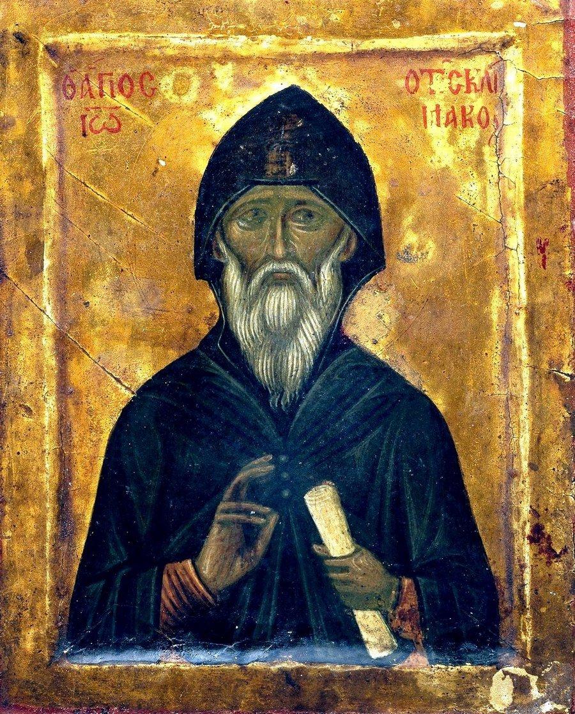Святой Преподобный Иоанн Лествичник. Икона XV века в монастыре Святой Екатерины на Синае.
