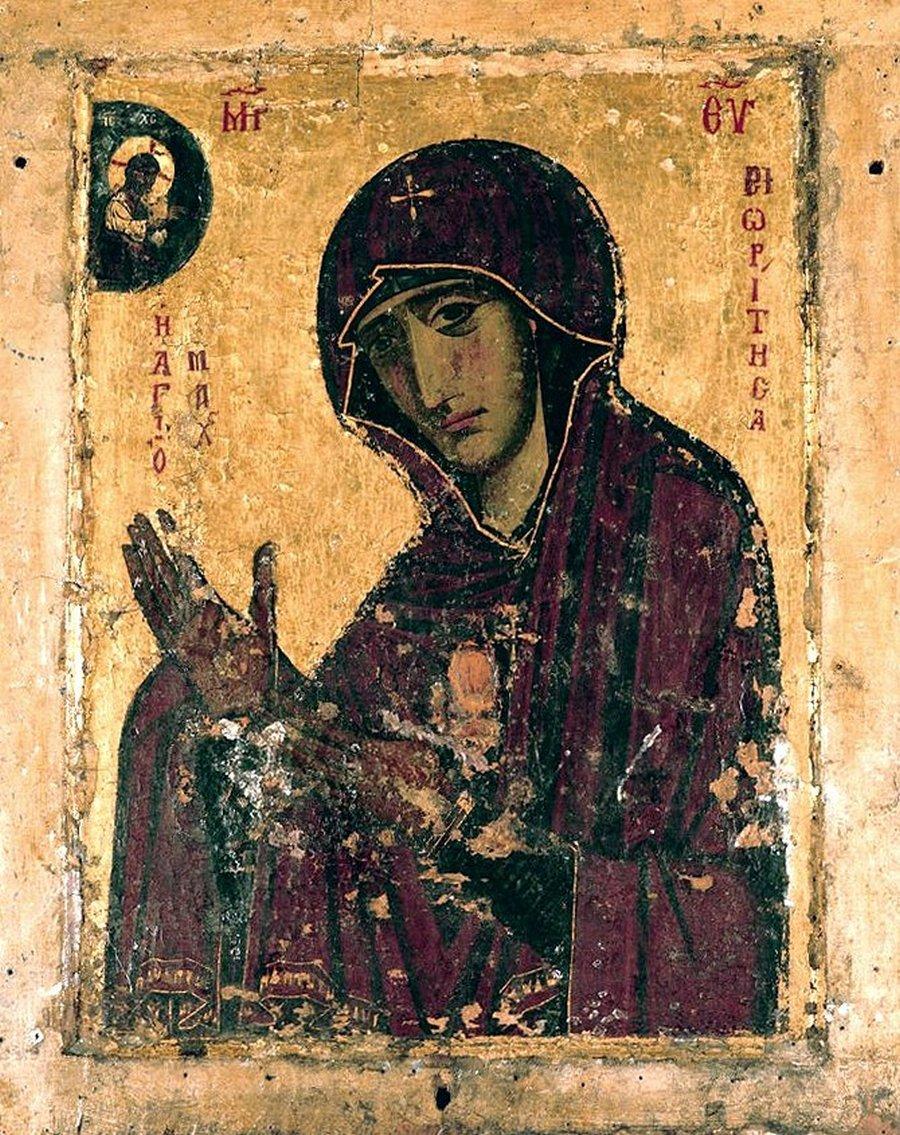 """Чудотворная икона Божией Матери """"Махериотисса"""" (""""Махерская"""", """"Ножевная""""). Монастырь Махерас на Кипре."""
