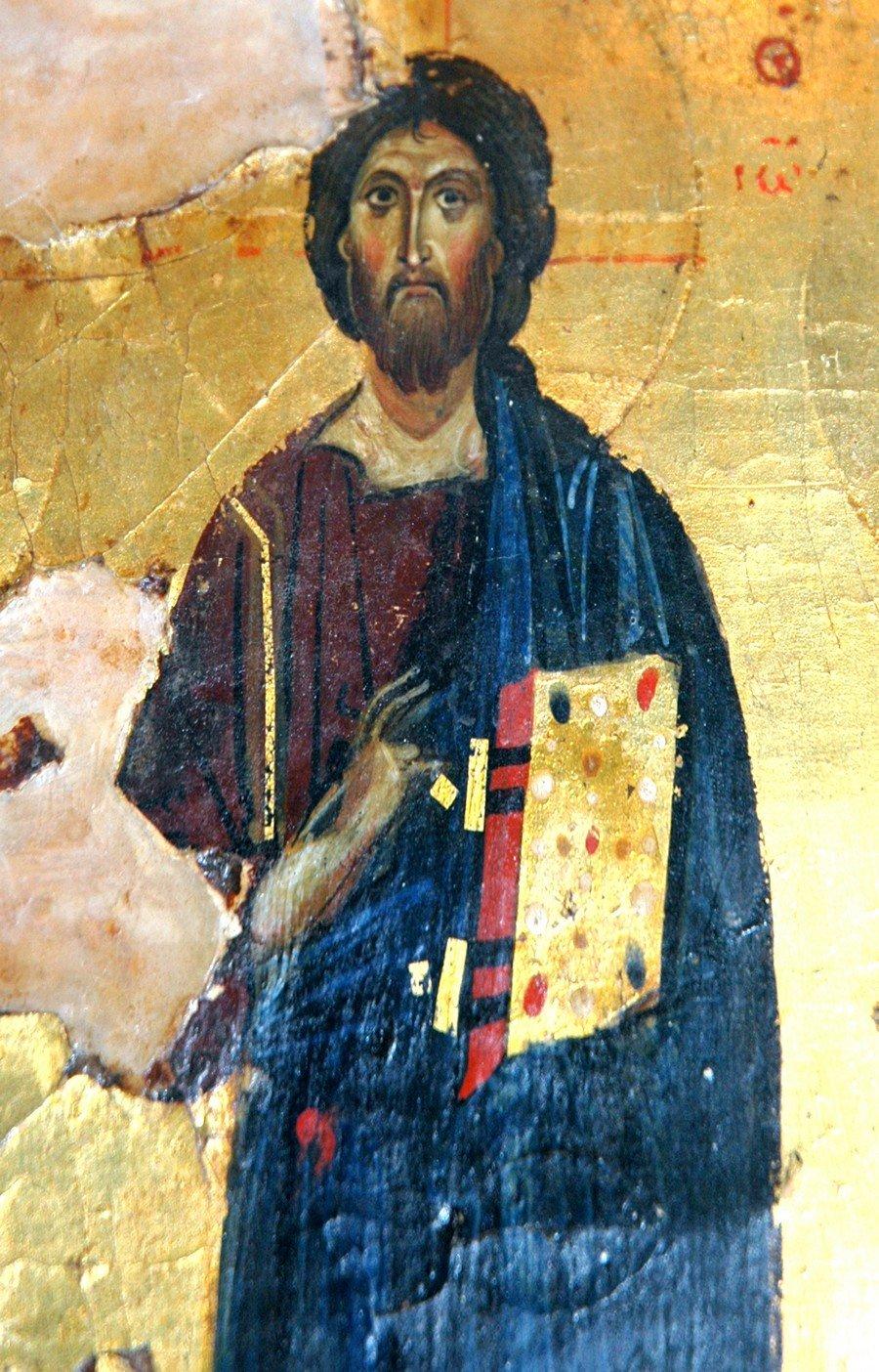 Христос Пантократор. Фрагмент эпистилия темплона. Византия, XI - XII век. Монастырь Святой Екатерины на Синае.