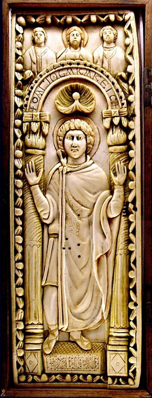 Святой Мученик Акакий Каппадокиянин, сотник. Резьба по кости. Византия, V век.