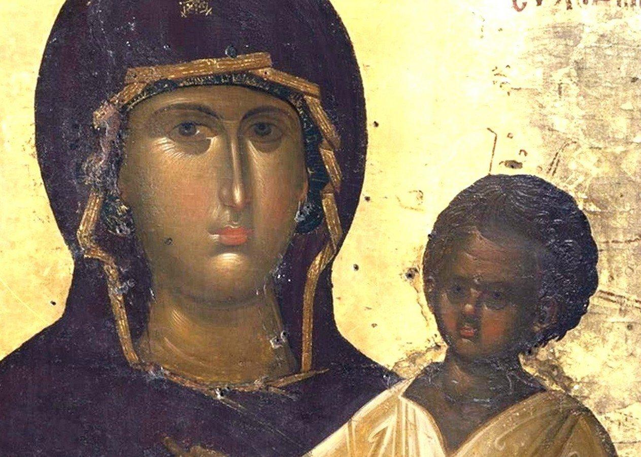 """Чудотворная икона Божией Матери """"Мировлитисса"""" (""""Мироточивая""""). Монастырь Святого Павла на Афоне. Лики."""