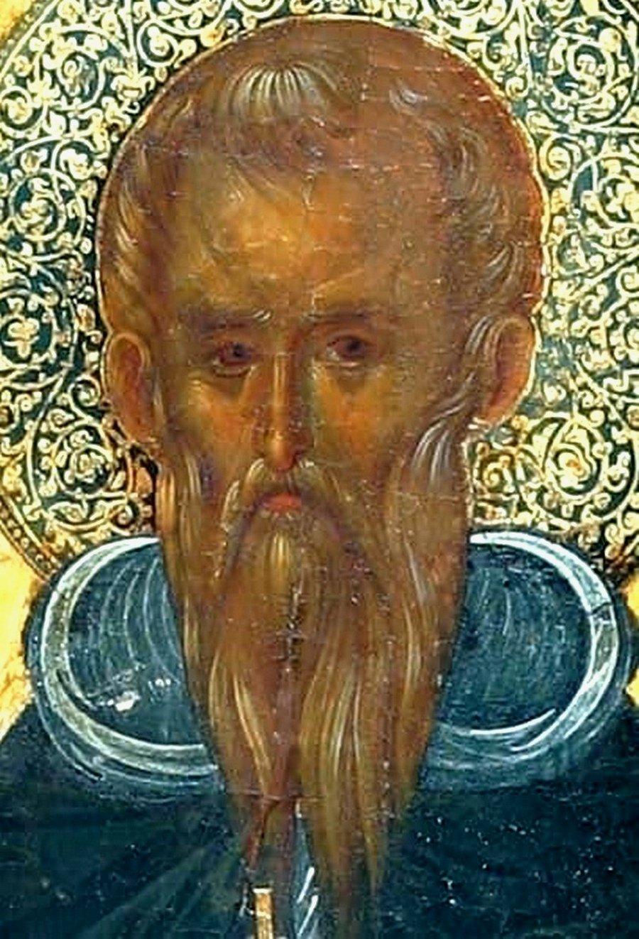 Святой Варнава. Кипрская икона XIV века. Фрагмент.