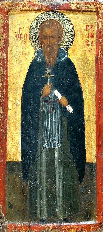 Святой Варнава. Кипрская икона XIV века.