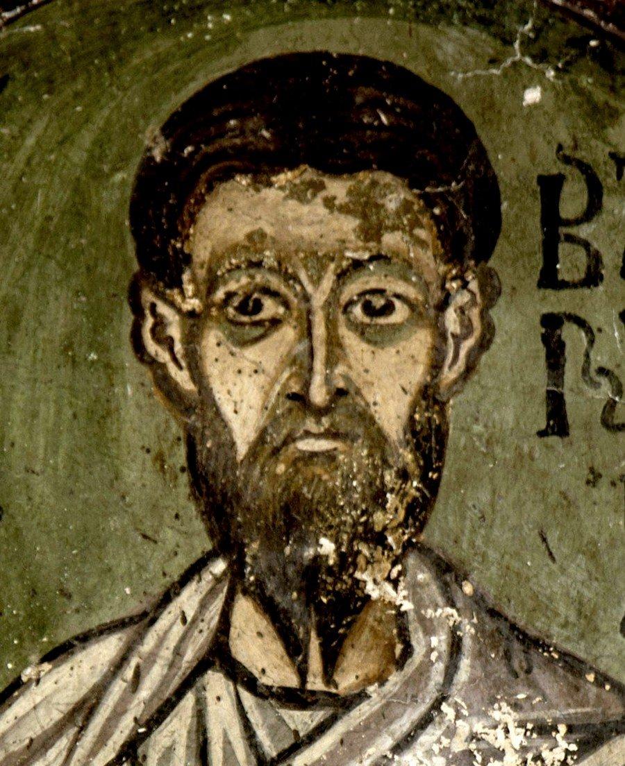 Святой Апостол Варнава. Фреска монастыря Осиос Лукас, Греция. 1030 - 1040-е годы.