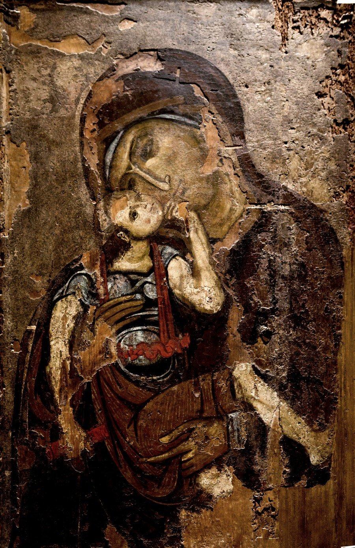 """Икона Божией Матери """"Гликофилуса"""". Византия, XII век. Византийский музей в Афинах."""