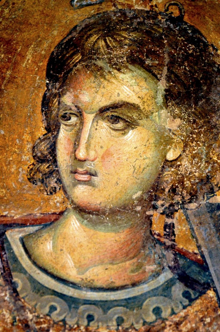 Святой Великомученик Прокопий Кесарийский. Фреска монастыря Хора в Константинополе. Около 1316 - 1321 годов.