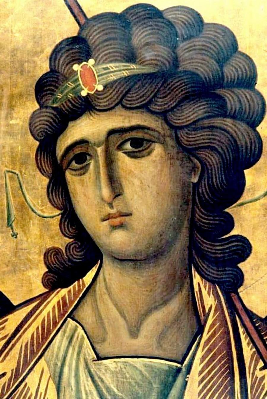 Архангел Гавриил. Фрагмент византийской иконы XIII века. Монастырь Святой Екатерины на Синае.