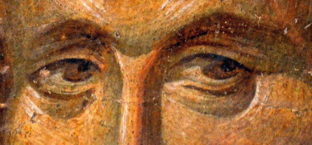 Святой Мученик Савва Стратилат. Фреска монастыря Хора в Константинополе. 1315 - 1321 годы. Фрагмент.