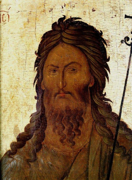 Святой Иоанн Предтеча. Икона. Византия, третья четверть XIV века. Сербский монастырь Хиландар на Святой Горе Афон.