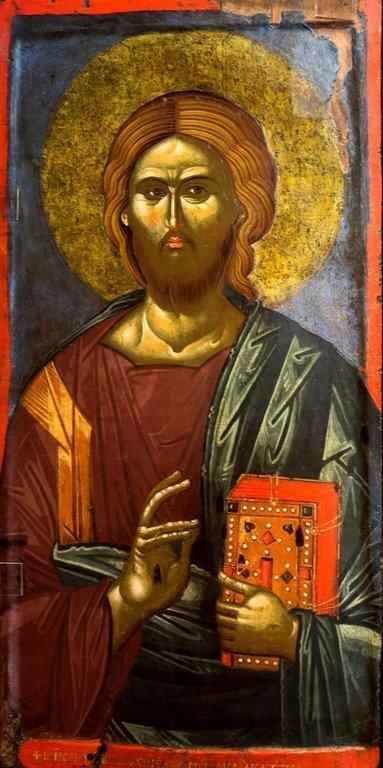 Христос Пантократор. Икона. Византия, вторая половина XIV века. Византийский музей в Кастории, Греция.