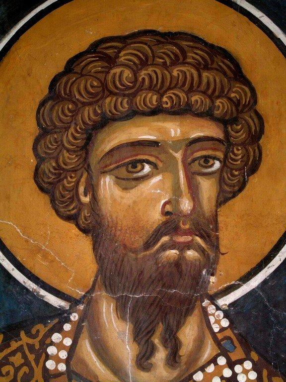 Святой Великомученик Феодор Стратилат. Кипрская фреска.
