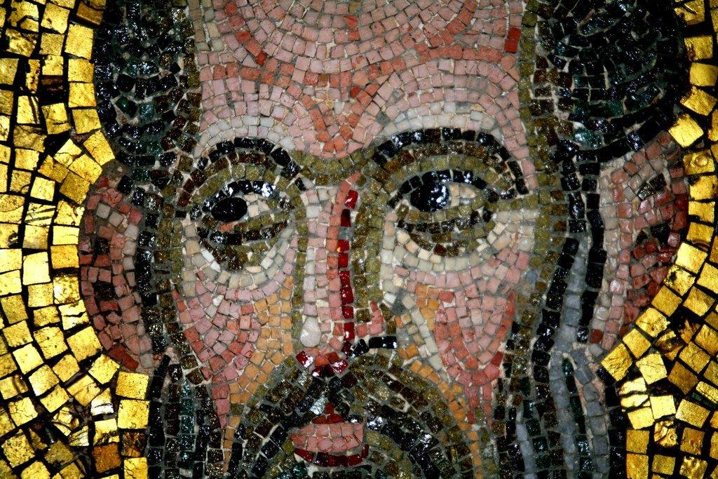 Святой Пророк Елисей. Мозаика монастыря Дафни близ Афин. Вторая половина XI века.