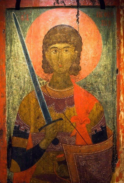 Святой Великомученик Прокопий. Икона. Византия, XIV век. Византийский музей в Верии, Греция.