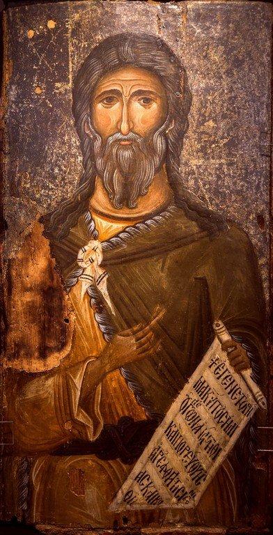 Святой Пророк Илия. Икона. Византия, конец XII века. Византийский музей в Кастории, Греция.