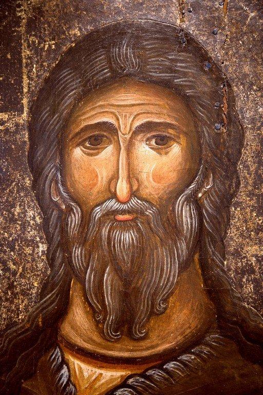 Святой Пророк Илия. Икона. Византия, конец XII века. Византийский музей в Кастории, Греция. Фрагмент.