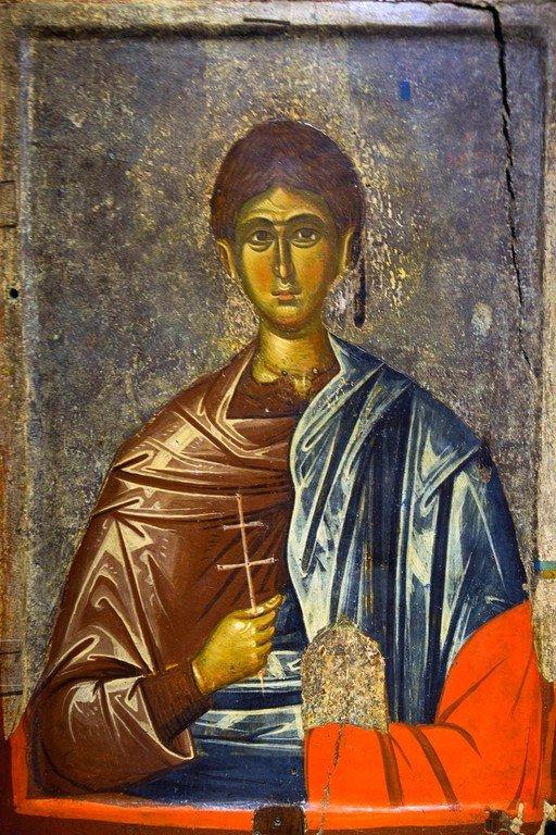 Святой Первомученик Архидиакон Стефан. Икона. Византия, вторая половина XIV века. Византийский музей в Кастории, Греция.