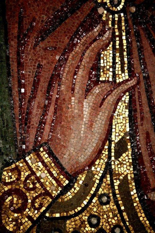 Святой Пророк Захария, отец Святого Иоанна Предтечи. Мозаика монастыря Дафни, Греция. XI век. Фрагмент.