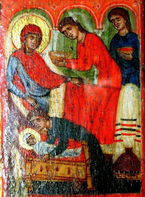 Рождество Пресвятой Богородицы. Византийская икона. Кипр.