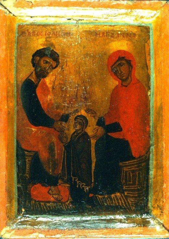 Святые Праведные Иоаким и Анна, родители Пресвятой Богородицы. Византийская икона. Монастырь Святой Екатерины на Синае.