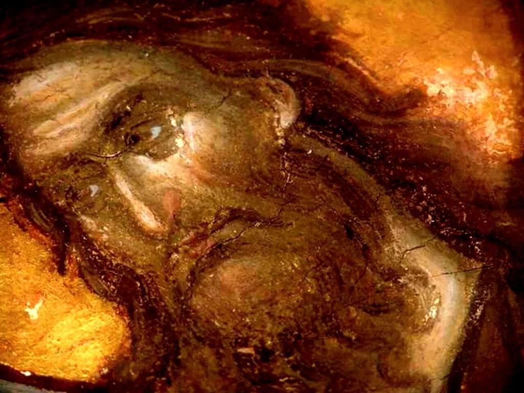 Святой Иоанн Предтеча. Фреска соборного храма сербского монастыря Хиландар на Святой Горе Афон. 1318 - 1320 годы.