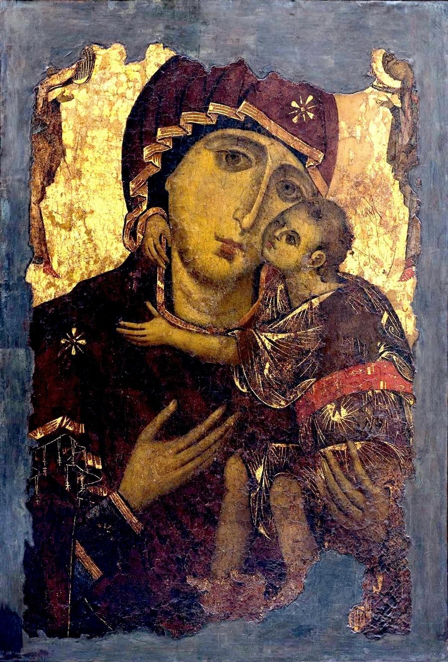 """Икона Божией Матери """"Елеуса"""". Византия, начало XII века. Находится в городе Валлетта, Республика Мальта."""
