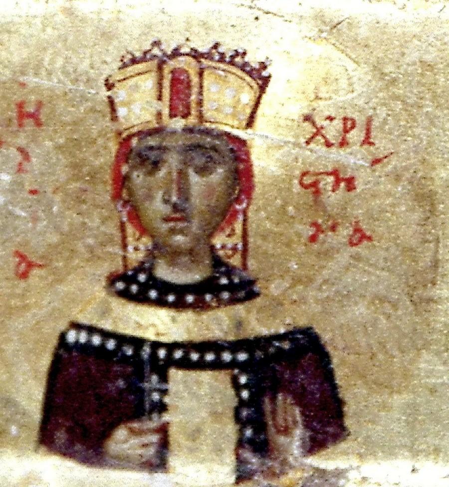 Святая Мученица Христина Тирская. Фрагмент византийской иконы XI века. Монастырь Святой Екатерины на Синае.