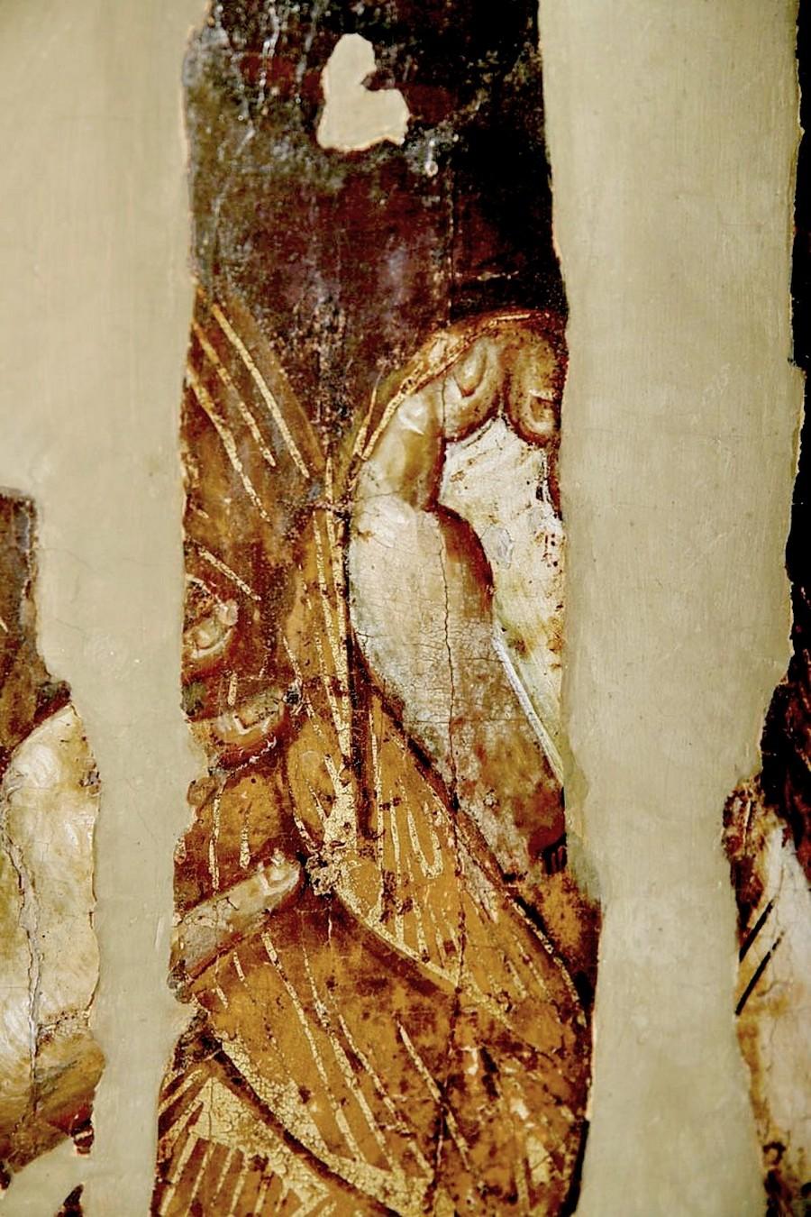 """Хиландарская икона Божией Матери """"Одигитрия"""". Византия, 1260 - 1270-е годы. Сербский монастырь Хиландар на Афоне. Фрагмент."""