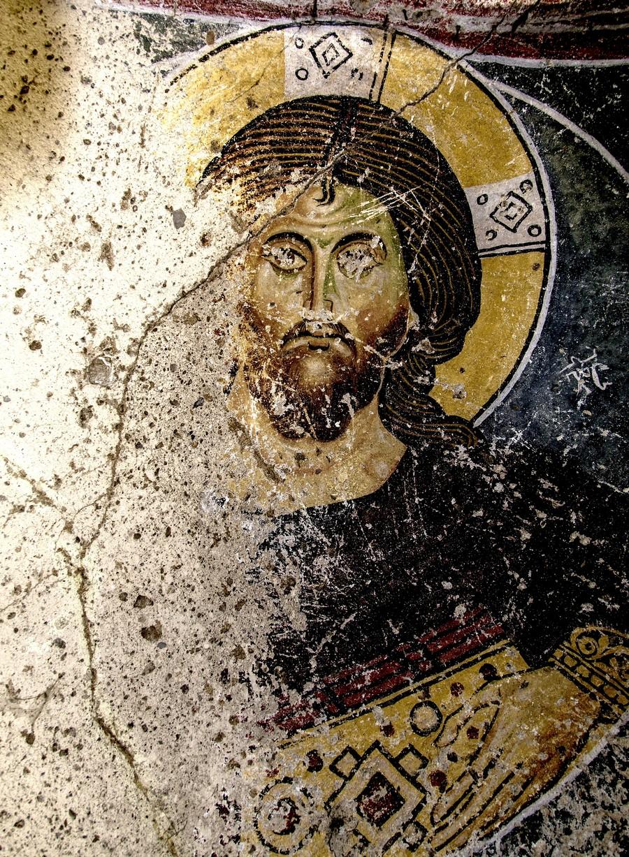 Христос Пантократор. Византийская фреска. Ортахисар, Каппадокия.