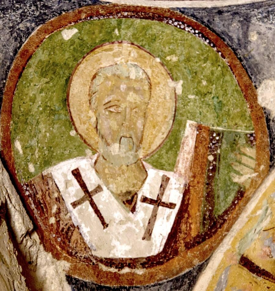 Святитель. Фреска церкви Эль Назар, Гёреме, Каппадокия. Середина X века.