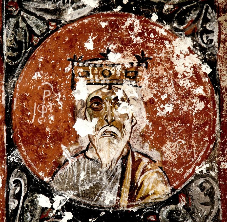 Ветхозаветный Пророк. Фреска церкви Святой Варвары в Соганлы, Каппадокия. 1021 год.